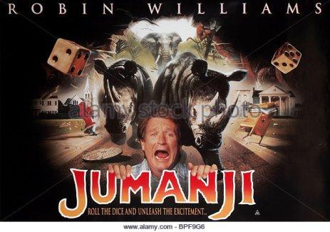 robin-williams-affiche-de-film-jumanji-1995-bpf9g6